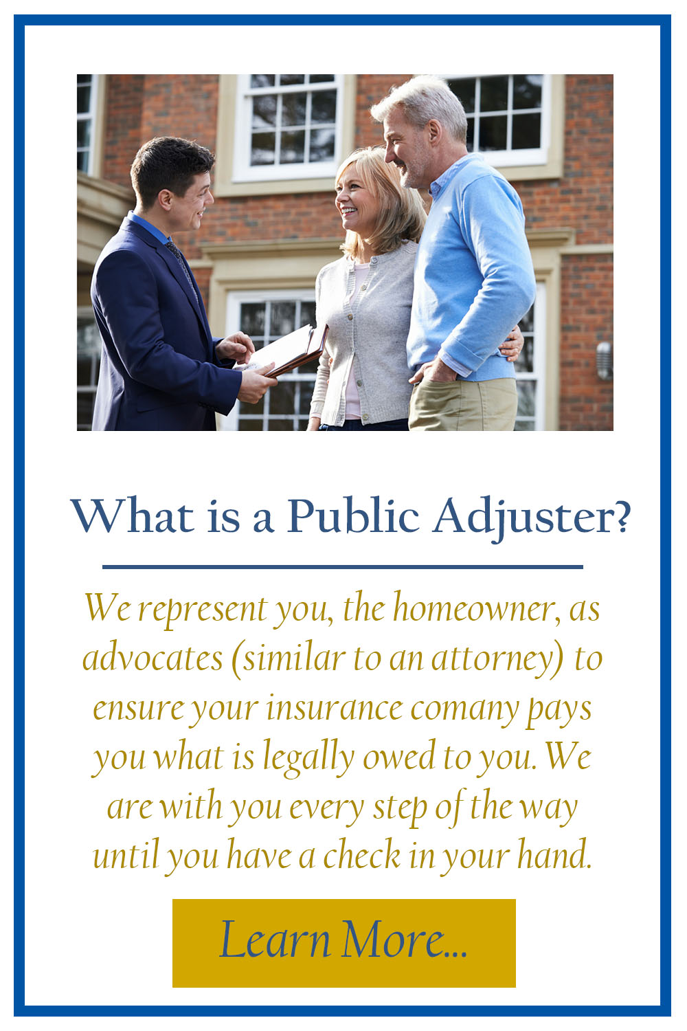 What is a Public Adjuster TILE