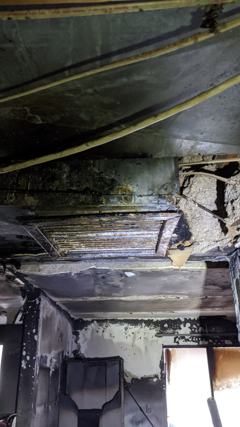 Ceiling Fire Damage-Utah